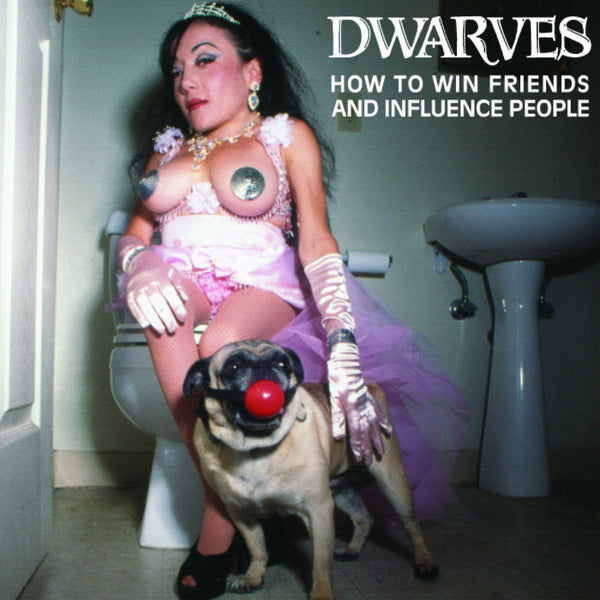 Dwarves- How To Win Friends LP ~HALF CLEAR HALF PINK WAX! - Reptilian - Dead Beat Records - 1