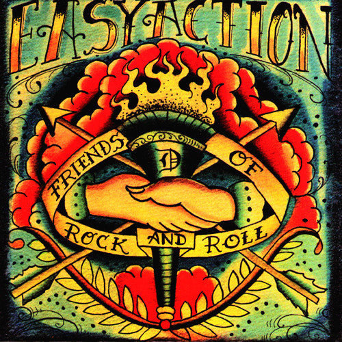 "Easy Action- Friends of Rock N Roll 7"" ~EX NEGATIVE APPROACH - Reptilian - Dead Beat Records"