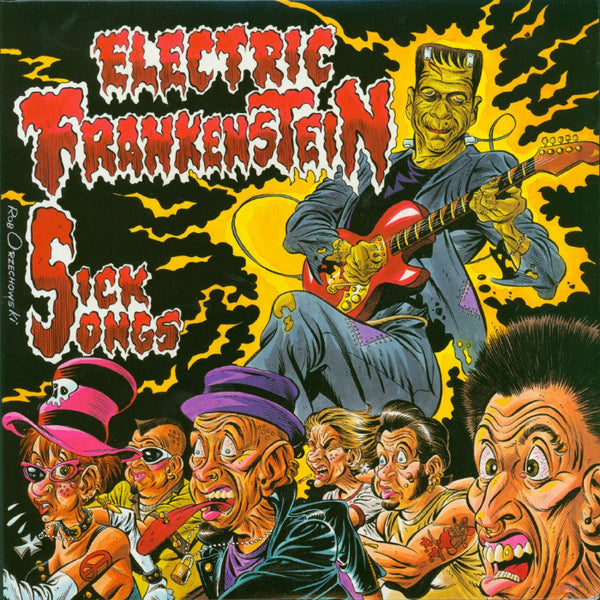 "Electric Frankenstein- Sick Songs 10"" ~RARE YELLOW WAX!"