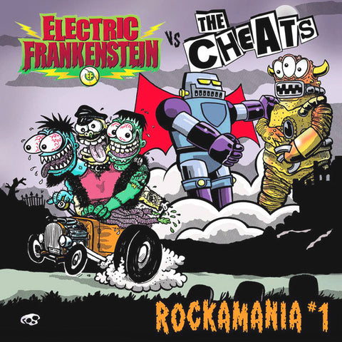 Electric Frankenstein/The Cheats- Split LP ~KILLER!