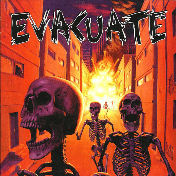 Evacuate- S/T LP ~ EX THE VIRUS, CHEAP SEX / GATEFOLD COVER!