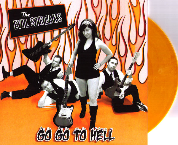 "Evil Streaks- Go Go To Hell 7"" ~RARE 50 MADE! - Necro-Tone - Dead Beat Records"