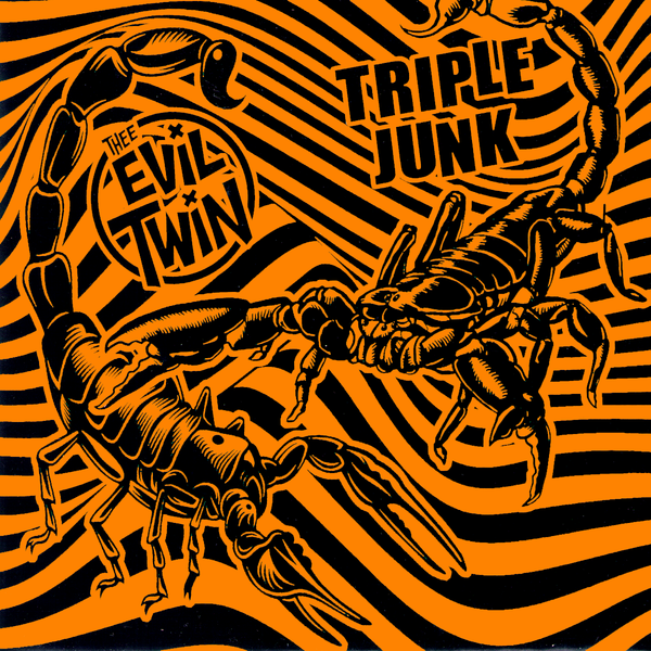 "Evil Twin / Triple Junk - Split 7"" ~RARE ORANGE + BLACK CVR LTD TO 50!"