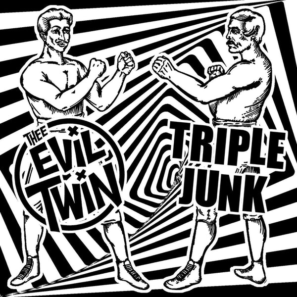 "Evil Twin / Triple Junk - Split 7"" ~RAREST ALTERNATE COVER LTD TO 30!"
