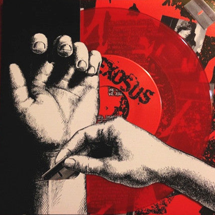 "Exosus- Feed The Furnace 7"" ~200 PRESSED ON RED WAX! - Reptilian - Dead Beat Records"