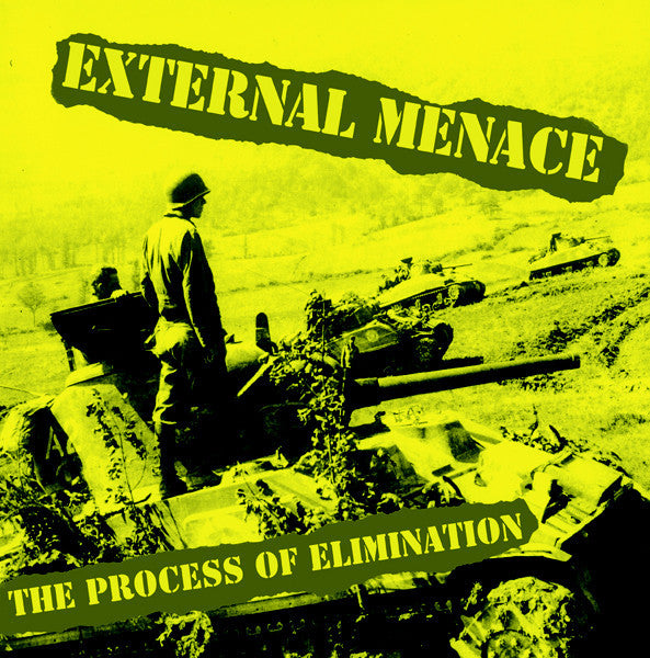 External Menace- Process Of Elimination LP ~YELLOW AND BLACK SPLAT WAX! - Loud Punk - Dead Beat Records - 1