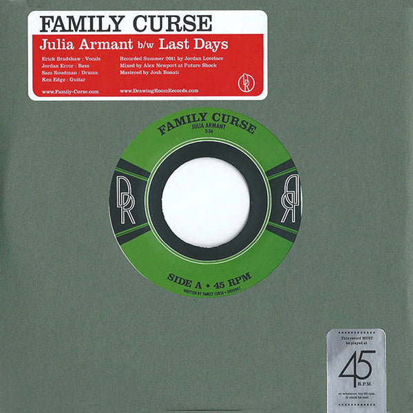 "Family Curse- S/T 7"" ~GANG OF FOUR!"