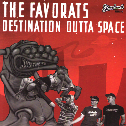 "The Favorats - Destination Outta Space 7"" ~RAMONES!"