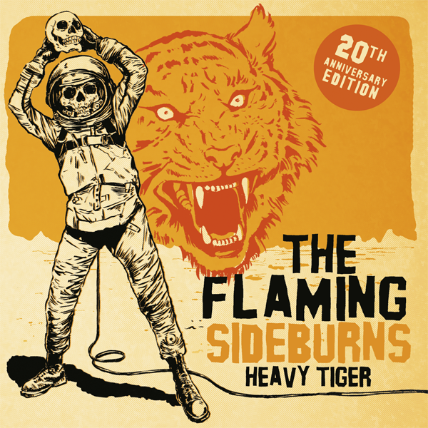 "Flaming Sideburns- Heavy Tiger 7"" ~20TH ANNIVERSARY SINGLE!"