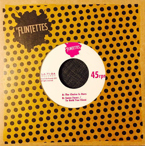 "Flintettes- The Choice Is Ours 7"" ~EX TRANZMITORS! - La Ti Da - Dead Beat Records"