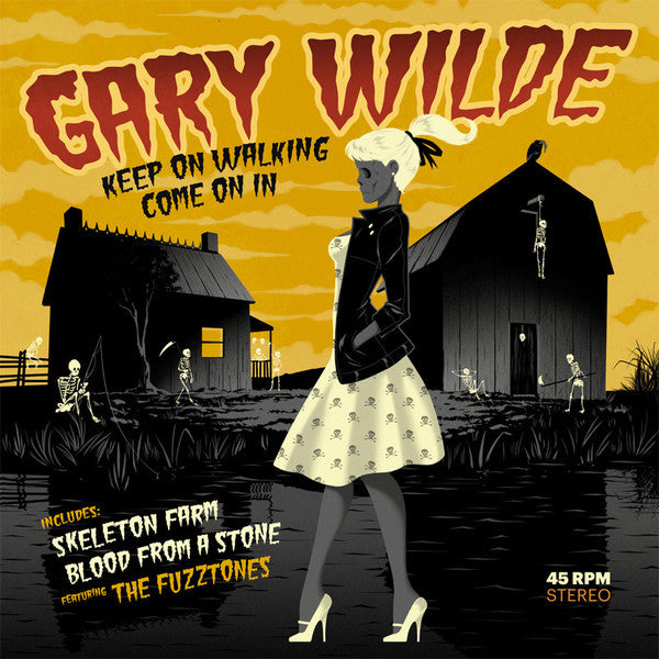 "Gary Wilde- Keep On Walking 7"" ~W/ THE FUZZTONES!"