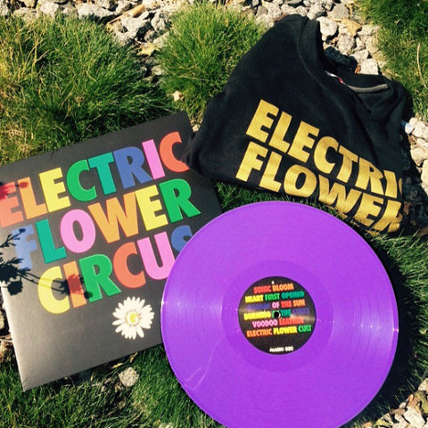 Give- Electric Flower Circus LP ~RARE OPAQUE PURPLE WAX LTD TO 200! - Adagio 830 - Dead Beat Records - 1