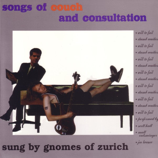 "Gnomes of Zurich- Songs Of Couch And Consultation 7"" - Reptilian - Dead Beat Records"