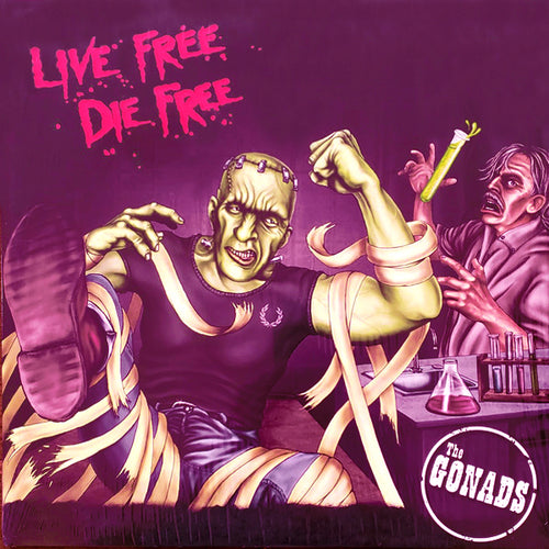 Gonads- Live Free Die Free 2x LP ~GATEFOLD COVER + COLORED WAX!