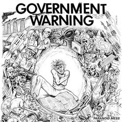 Government Warning- Paranoid Mess LP - No Way - Dead Beat Records
