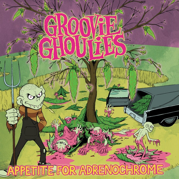 Groovie Ghoulies- Appetite For Adrenochrome LP ~RARE PINK WAX! - Eccentric Pop - Dead Beat Records