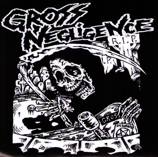 "Gross Negligence- Skate The Apocalyplse 7"" - FLAT BLACK - Dead Beat Records"