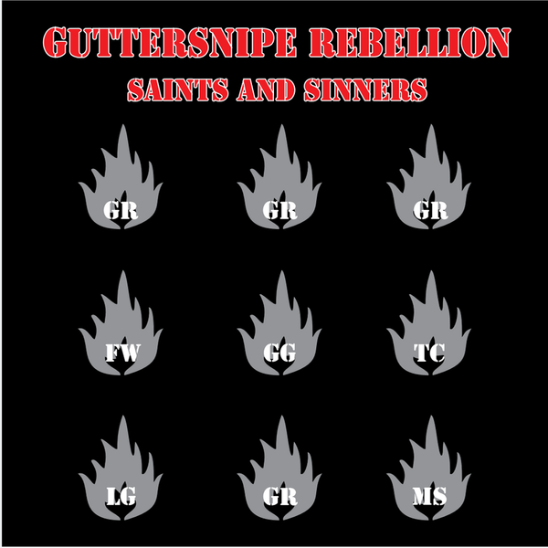 "Guttersnipe Rebellion / Riotgun- Split 7"" ~RAREST BLACK WAX LTD TO 104 COPIES!"