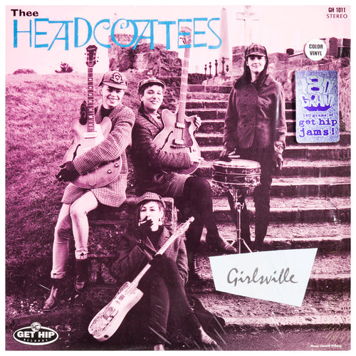 Thee Headcoatees- Girlsville LP ~RARE RED WAX!
