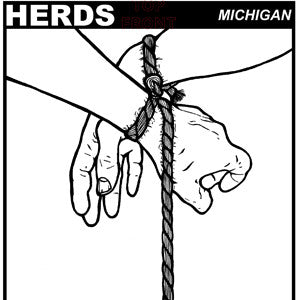 "Herds- Michigan 7"" ~EX CHARLES BRONSON, THREATENER - residue - Dead Beat Records"