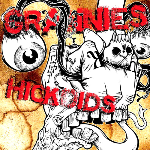 Hickoids/Grannies- Split LP ~RARE RED VINYL TOUR COLOR LTD 300!