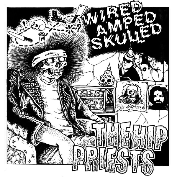"Hip Priests/Billy Hopeless- Split 7"" ~RARE BLACK N WHITE SPLIT COLORED WAX!"