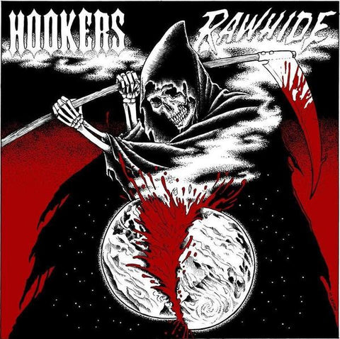 "Hookers/Rawhide- Split 7"" ~RED WAX LTD TO 125! - Little T & A Records - Dead Beat Records"