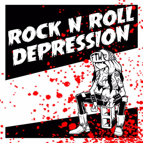 "Jonny Manak And The Depressives / Satanic Overlords Of Rock 'N' Roll - Split 7"" ~HELLACOPTERS!"
