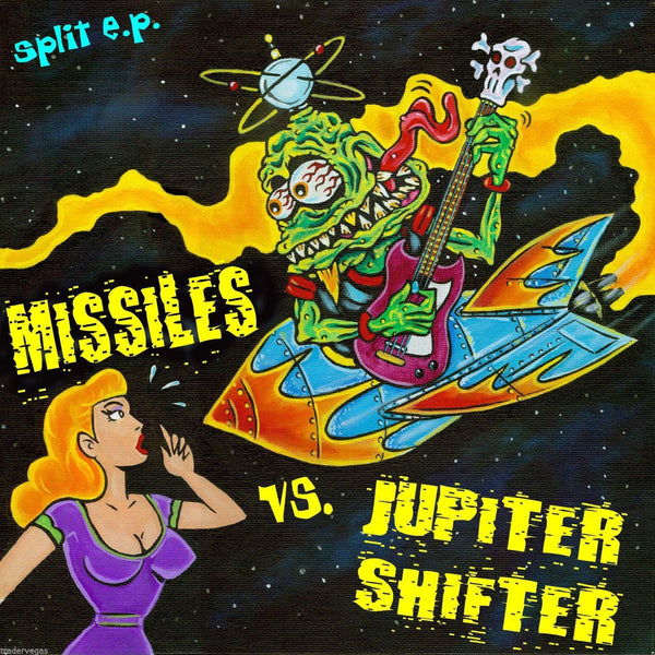 "The Missiles/Jupiter Shifter- Split 10"" ~GUITAR WOLF! - Wood Shampoo - Dead Beat Records"