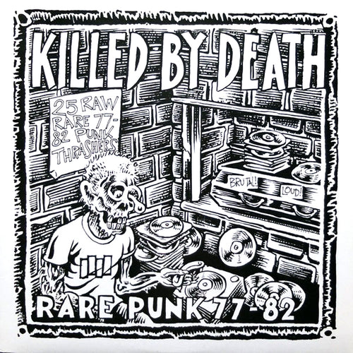 V/A- Killed By Death #1 LP ~REISSUE / RARE WHITE WAX!