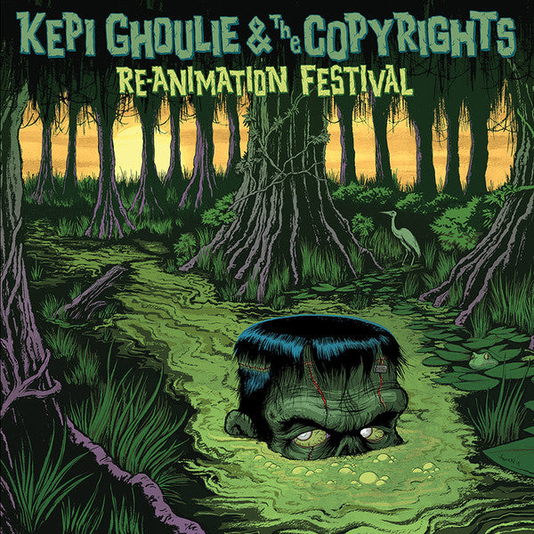 Kepi Ghoulie & The Copyrights- Re-animation Festival LP ~RARE FIRST PRESSING ON SWAMP GREEN MARBLE WAX + NO BIGFOOT ON COVER!