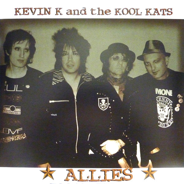 Kevin K & the Real Kool Kats- Allies LP ~100 PRESSED ON RED WAX!