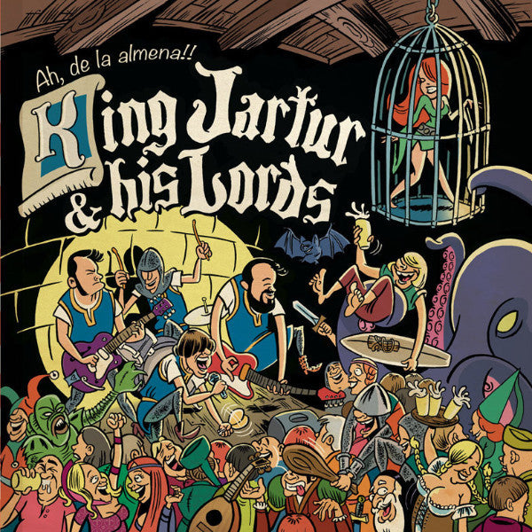 King Jartur & His Lords - Ah De La Almena LP ~W/ 16 PAGE COMIC BOOK! - Bickerton - Dead Beat Records