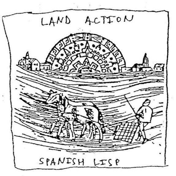 "Land Action- Spanish Lisp 7"" ~EX OBSERVERS! - Dirt Cult - Dead Beat Records"