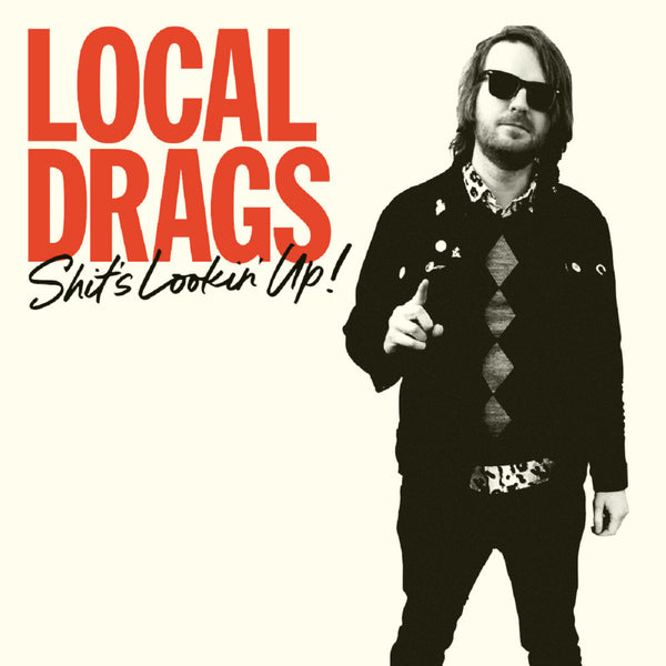 Local Drags- Shit's Lookin' Up LP ~EX  STARTER JACKETS / RARE RED + BLACK MARBLE WAX!