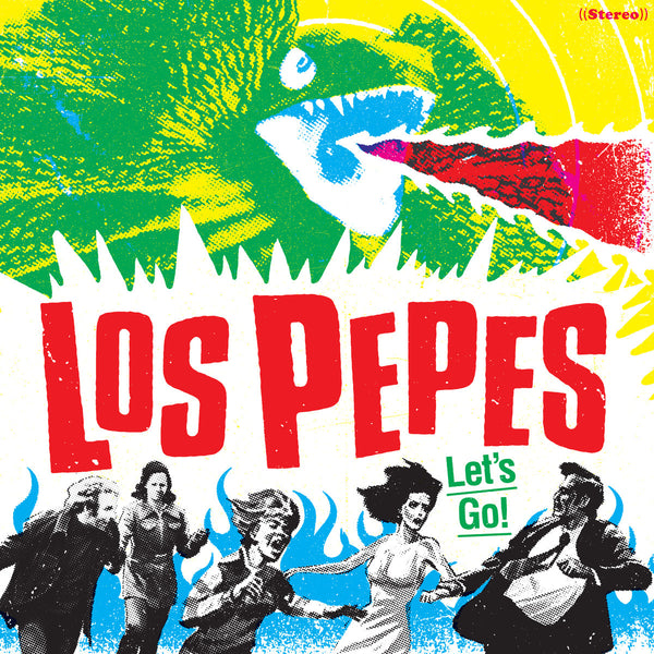 Los Pepes- Let's Go! LP ~RARE RED AND BLACK SPLATTER WAX!