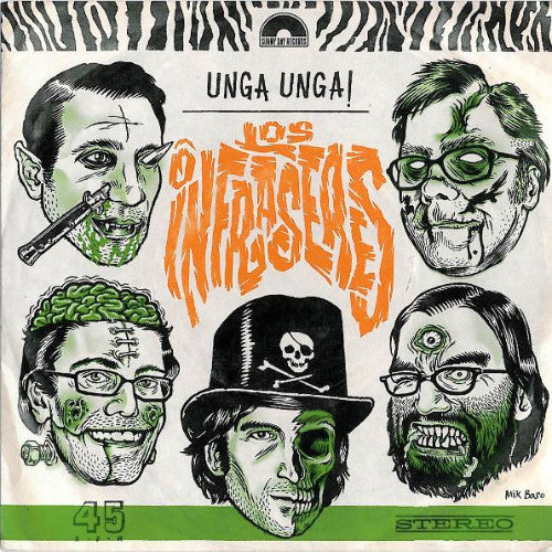"Los Infraseres- Unga, Unga! 7"" ~MUMMIES! - Sunny Day Records - Dead Beat Records"