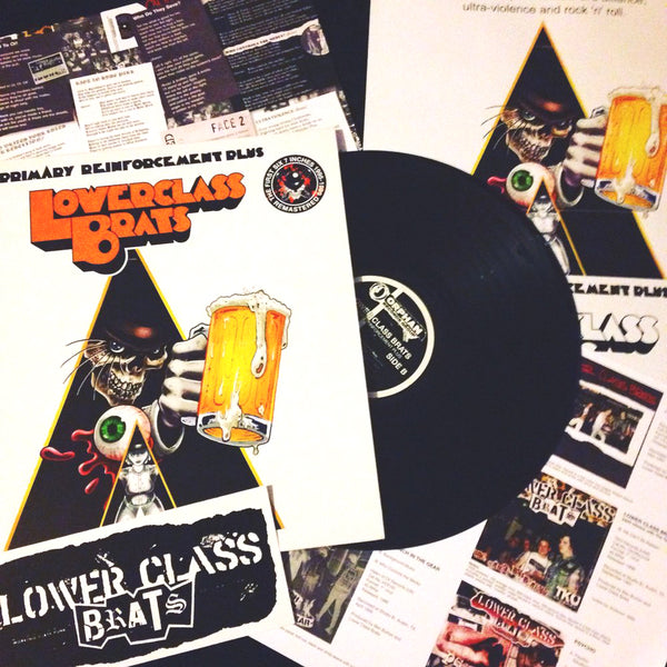 Lower Class Brats- Primary Reinforcement Plus LP ~REISSUE W/ POSTER + STICKER!