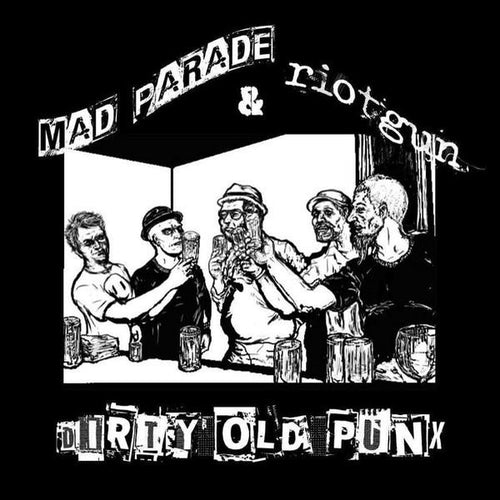"Mad Parade / Riotgun- Split 7"" ~RARE COVER LTD TO 104 COPIES!"