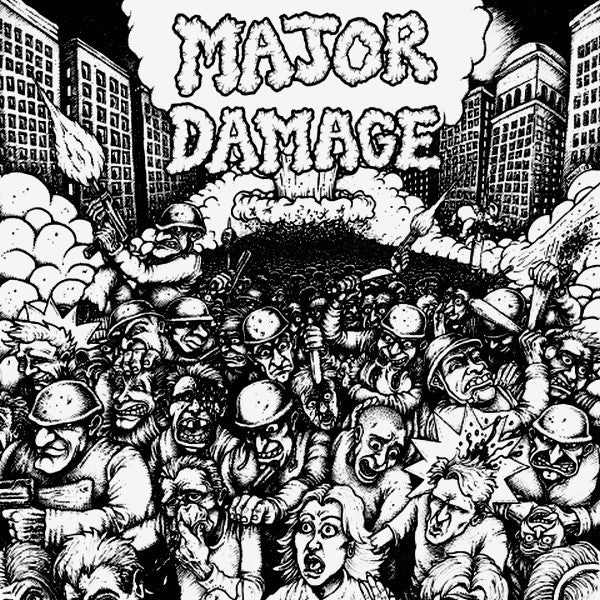 "Major Damage- Sheer Mayhem 7"" ~DIRECT CONTROL! - Even Worse - Dead Beat Records"