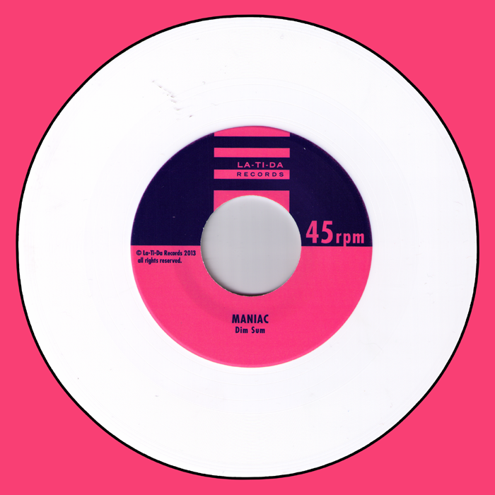 "Maniac- Dim Sum 7"" ~WHITE WAX LTD TO 100! - La Ti Da - Dead Beat Records - 1"