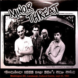 MINOR THREAT- 'Sometimes Good Guys Don't Wear White' LP - HC Classics - Dead Beat Records