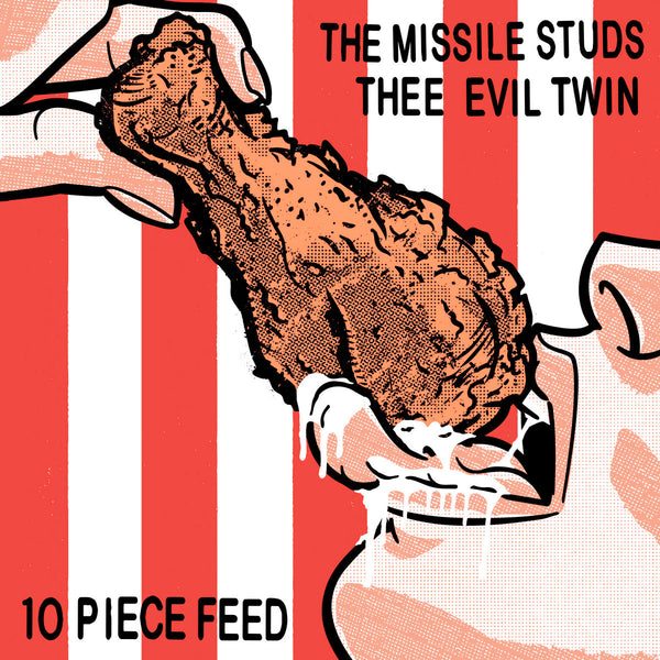 Missile Studs / Thee Evil Twin- '10 Piece Feed' Split LP ~STITCHES!