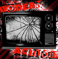 "Modern Action- S/T 7"" WITH LIMITED COVERS***50 MADE!! - NO FRONT TEETH - Dead Beat Records"