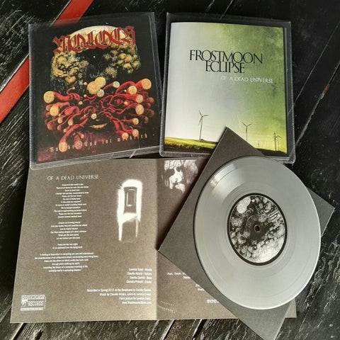 "Moloch/Frostmoon Eclipse- Split 7"" ~SPARKLEY SILVER WAX! - Fudgeworthy - Dead Beat Records"