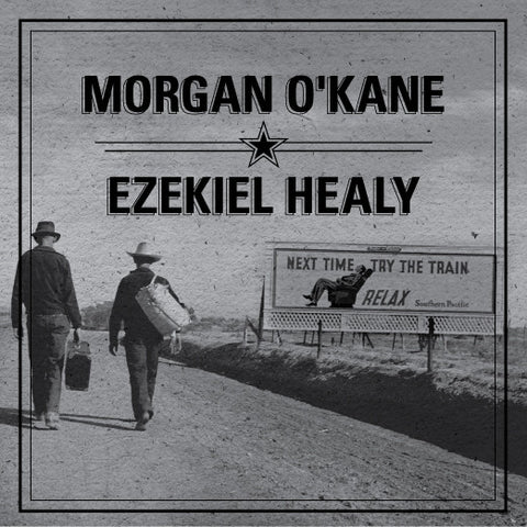 "Morgan O'Kane/Ezekiel Healy- Split 7"" ~CLEAR WAX LTD TO 175! - Fat Elvis - Dead Beat Records - 1"