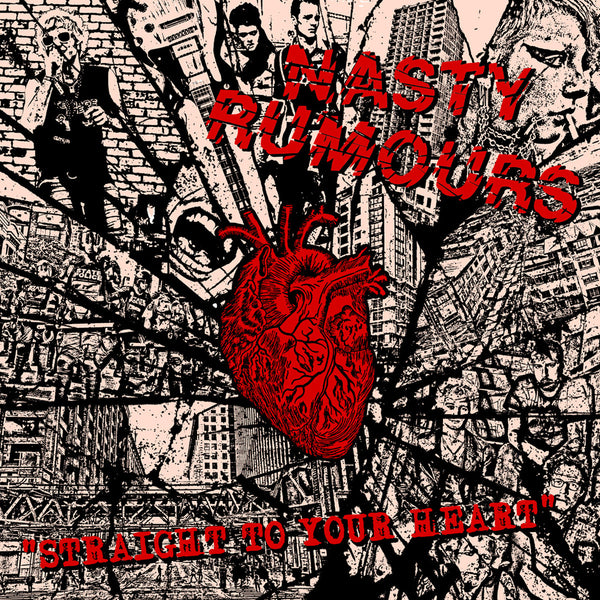 Nasty Rumours- Straight To Your Heart LP ~RAREST BLACK WAX LTD TO 50 COPIES!