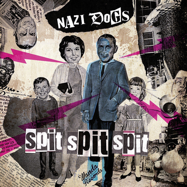 "Nazi Dogs/7er Jungs- Split 7"" ~PINK WAX LTD TO 150! - Wanda - Dead Beat Records"