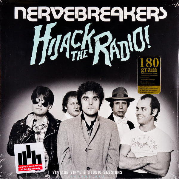 Nervebreakers- Hijack  The Radio LP ~RARE WHITE AND BLUE DRIP COLOR SWIRL WAX!