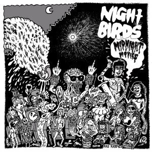 "NIGHT BIRDS- Midnight Movies 7"" ~EX ERGS - Grave Mistake - Dead Beat Records"